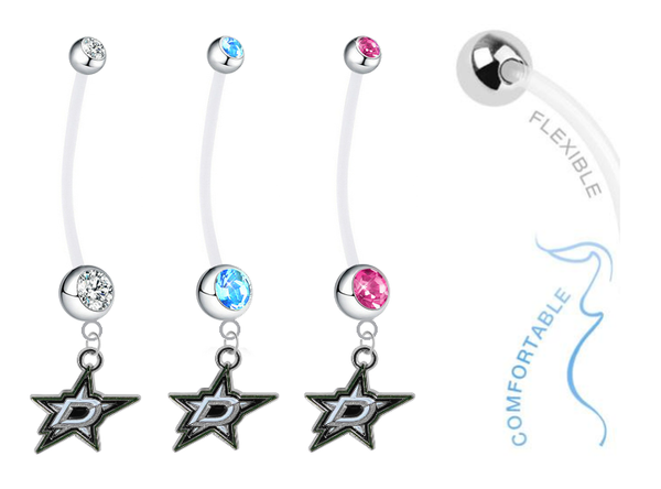 Dallas Stars Boy/Girl Pregnancy Maternity Belly Button Navel Ring