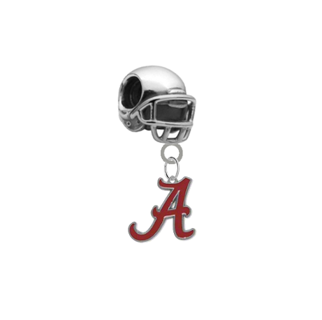 Alabama Crimson Tide Football Helmet European Bracelet Charm (Pandora Compatible)