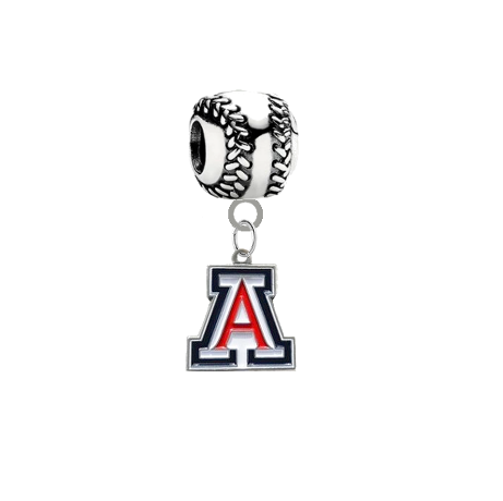 Arizona Wildcats Baseball European Bracelet Charm (Pandora Compatible)