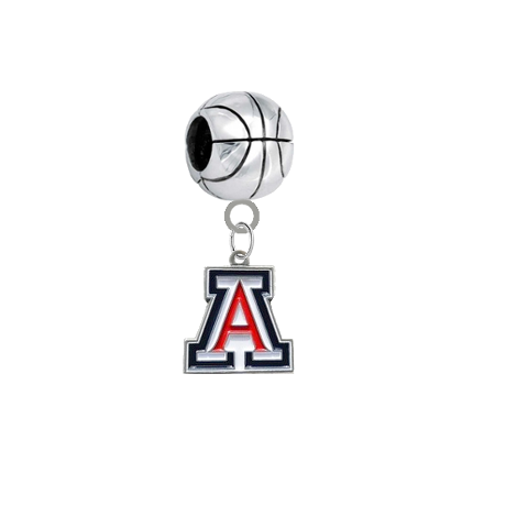 Arizona Wildcats Basketball European Bracelet Charm (Pandora Compatible)