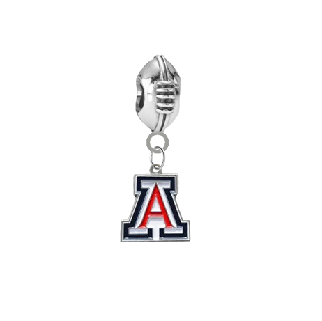 Arizona Wildcats Football European Bracelet Charm (Pandora Compatible)