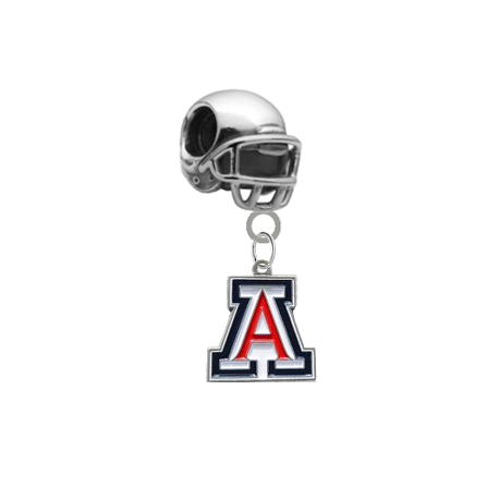 Arizona Wildcats Football Helmet European Bracelet Charm (Pandora Compatible)