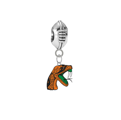 Florida A&M Rattlers Football European Bracelet Charm (Pandora Compatible)