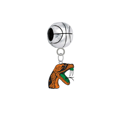 Florida A&M Rattlers Basketball European Bracelet Charm (Pandora Compatible)