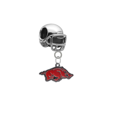 Arkansas Razorbacks Football Helmet European Bracelet Charm (Pandora Compatible)
