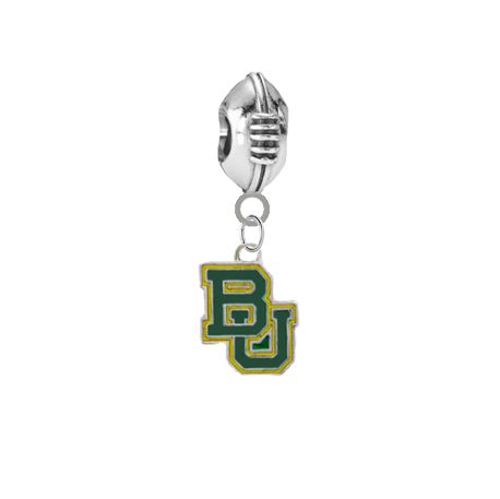 Baylor Bears Football European Bracelet Charm (Pandora Compatible)