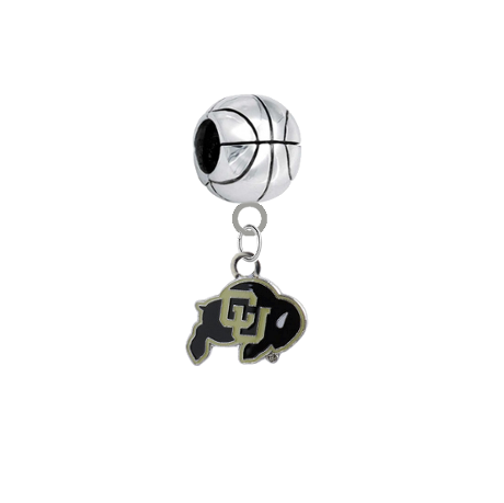 Colorado Buffaloes Basketball European Bracelet Charm (Pandora Compatible)