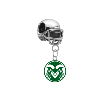 Colorado State Rams Football Helmet European Bracelet Charm (Pandora Compatible)