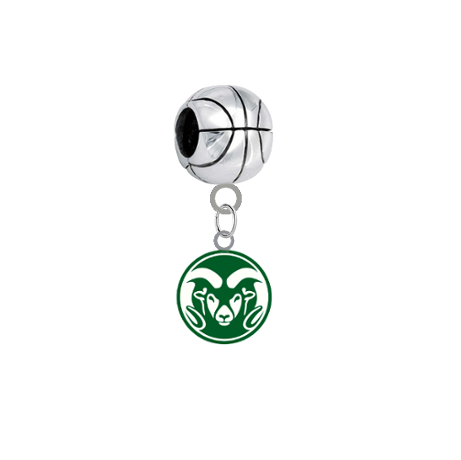 Colorado State Rams Basketball European Bracelet Charm (Pandora Compatible)