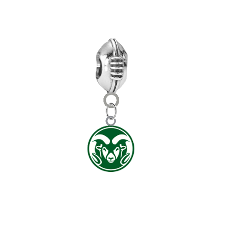 Colorado State Rams Football European Bracelet Charm (Pandora Compatible)