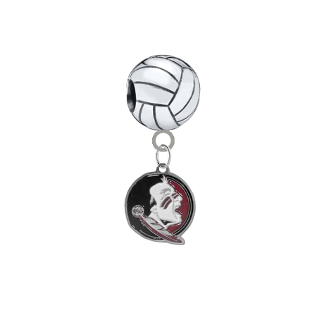 Florida State Seminoles New Logo Volleyball Universal European Bracelet Charm