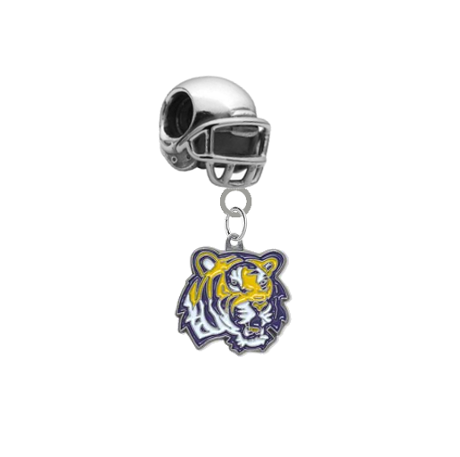 LSU Tigers Football Helmet European Bracelet Charm (Pandora Compatible)