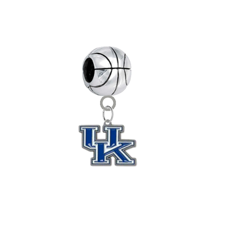 Kentucky Wildcats Basketball European Bracelet Charm (Pandora Compatible)