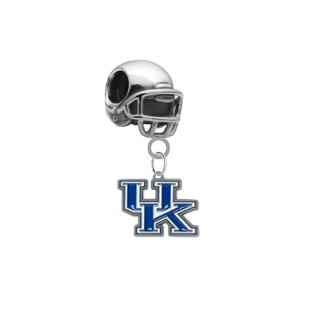 Kentucky Wildcats Football Helmet European Bracelet Charm (Pandora Compatible)