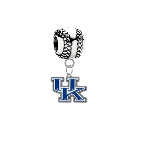Kentucky Wildcats Baseball European Bracelet Charm (Pandora Compatible)