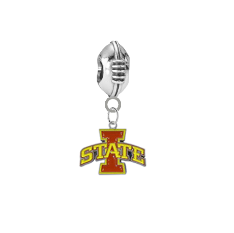 Iowa State Cyclones Football European Bracelet Charm (Pandora Compatible)