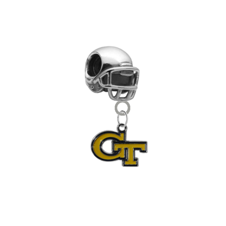 Georgia Tech Yellow Jackets Football Helmet European Bracelet Charm (Pandora Compatible)