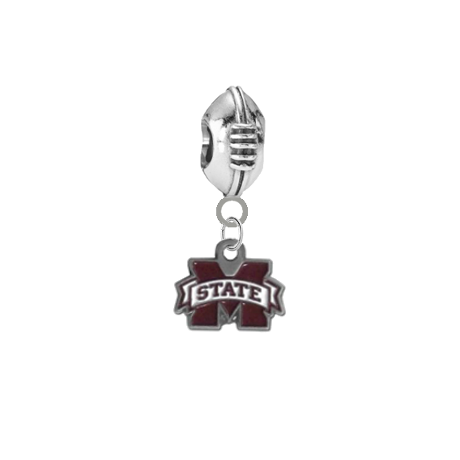 Mississippi State Bulldogs Football European Bracelet Charm (Pandora Compatible)