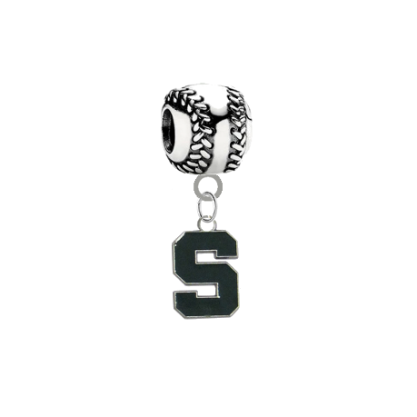 Michigan State Spartans Baseball Universal European Bracelet Charm
