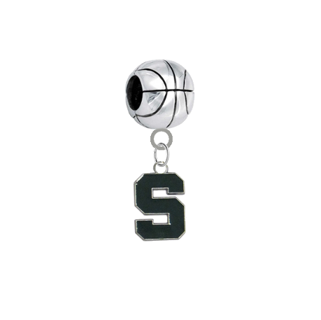 Michigan State Spartans Basketball Universal European Bracelet Charm