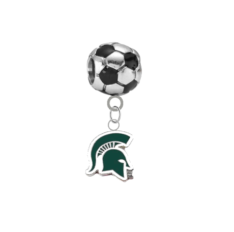 Michigan State Spartans Mascot Soccer Universal European Bracelet Charm