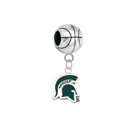 Michigan State Spartans Mascot Basketball Universal European Bracelet Charm