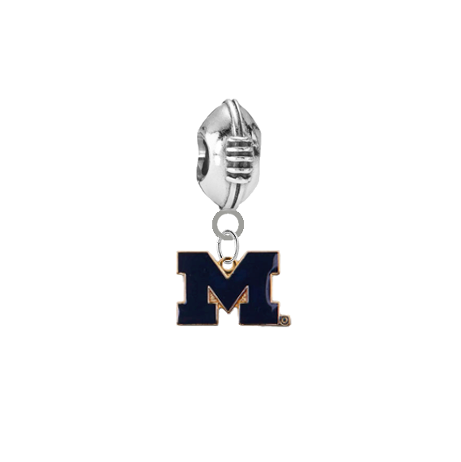 Michigan Wolverines Style 2 Football Universal European Bracelet Charm