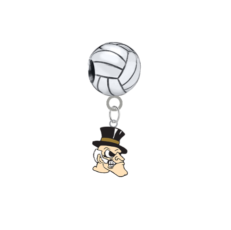 Wake Forest Demon Deacons Volleyball Universal European Bracelet Charm