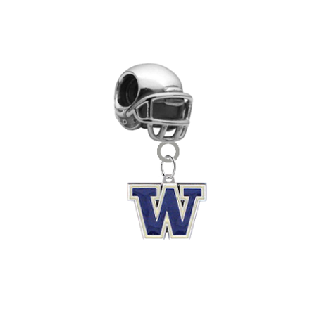 Washington Huskies Football Helmet Universal European Bracelet Charm