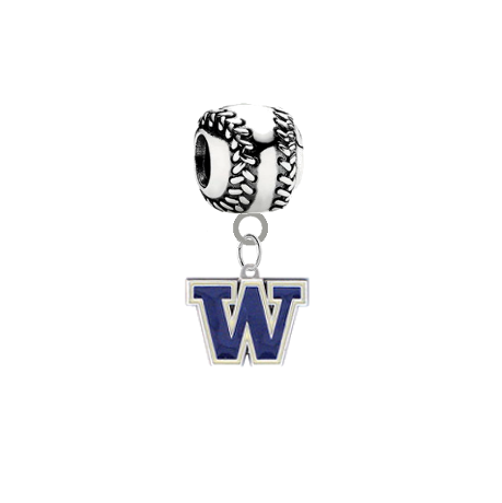 Washington Huskies Baseball Universal European Bracelet Charm