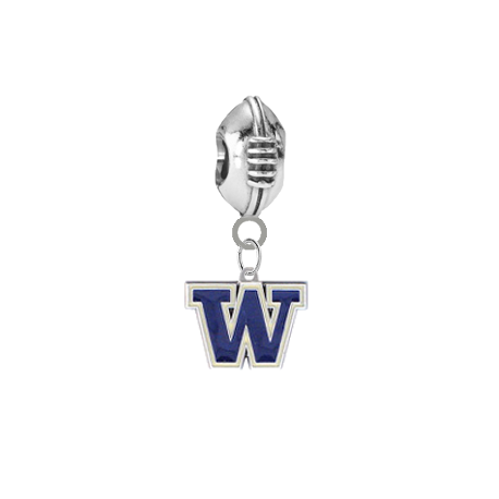 Washington Huskies Football Universal European Bracelet Charm