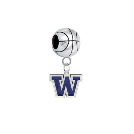 Washington Huskies Basketball Universal European Bracelet Charm