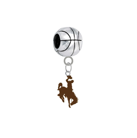 Wyoming Cowboys Basketball Universal European Bracelet Charm