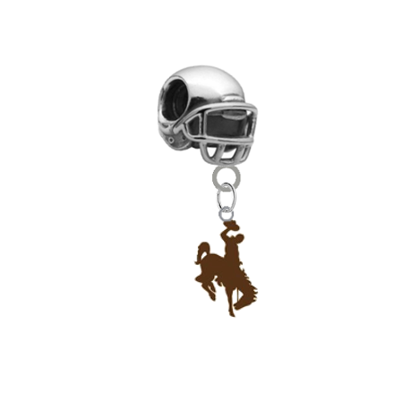 Wyoming Cowboys Football Helmet Universal European Bracelet Charm