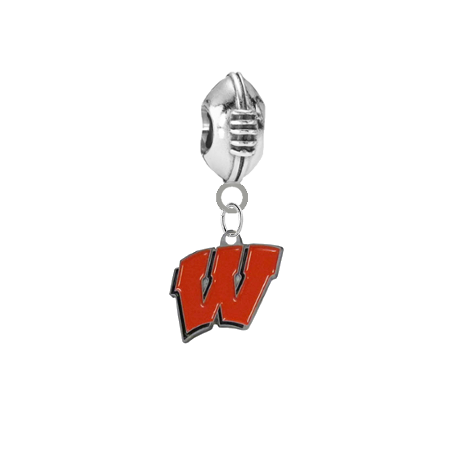 Wisconsin Badgers Football Universal European Bracelet Charm