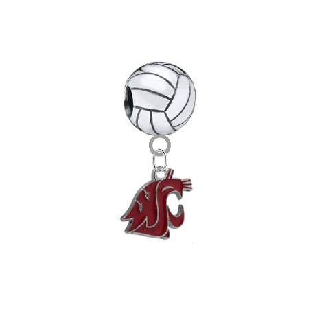 Washington State Cougars Volleyball Universal European Bracelet Charm