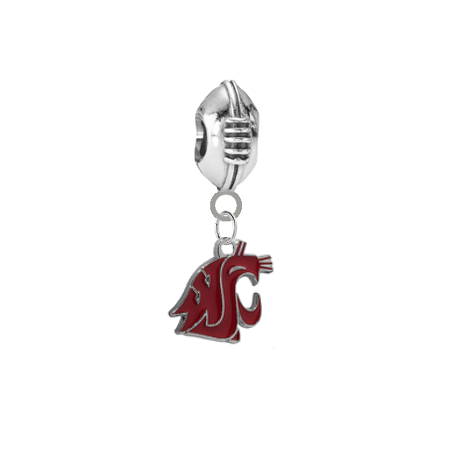 Washington State Cougars Football Universal European Bracelet Charm