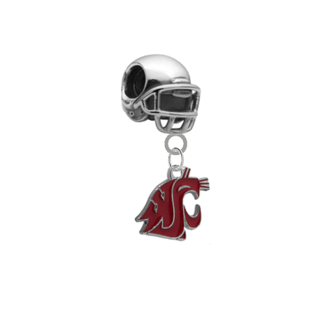 Washington State Cougars Football Helmet Universal European Bracelet Charm