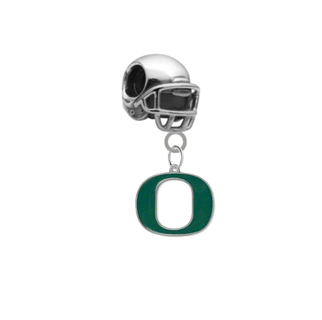 Oregon Ducks Football Helmet Universal European Bracelet Charm