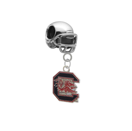 South Carolina Gamecocks Football Helmet Universal European Bracelet Charm