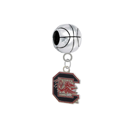 South Carolina Gamecocks Basketball Universal European Bracelet Charm