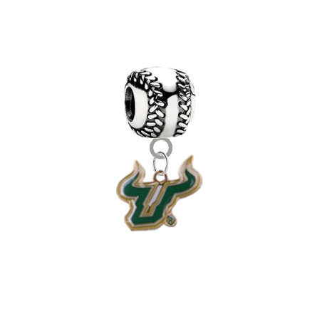 South Florida Bulls Softball Universal European Bracelet Charm