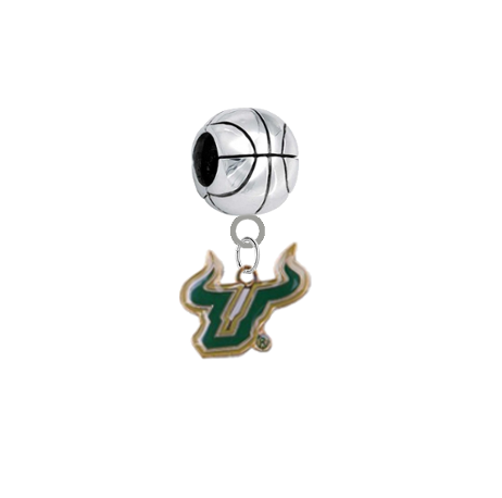 South Florida Bulls Basketball Universal European Bracelet Charm