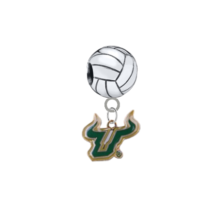 South Florida Bulls Volleyball Universal European Bracelet Charm