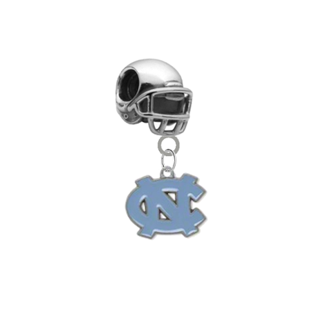 North Carolina Tar Heels Football Helmet Universal European Bracelet Charm