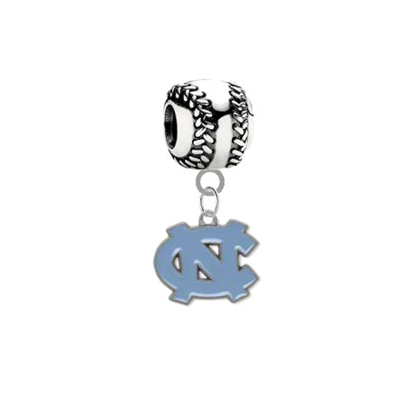 North Carolina Tar Heels Baseball Universal European Bracelet Charm