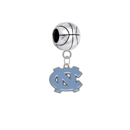 North Carolina Tar Heels Basketball Universal European Bracelet Charm