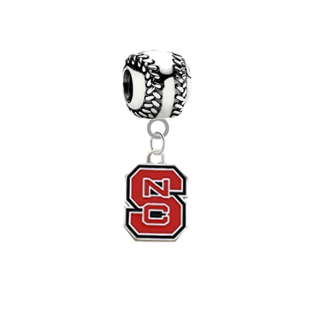 North Carolina State Wolfpack Softball Universal European Bracelet Charm