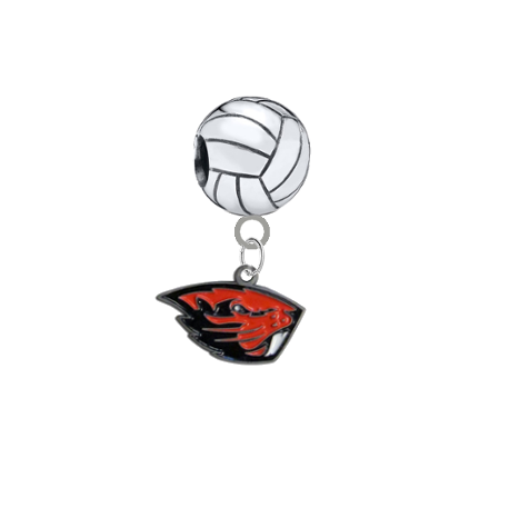 Oregon State Beavers Volleyball Universal European Bracelet Charm