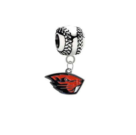 Oregon State Beavers Softball Universal European Bracelet Charm